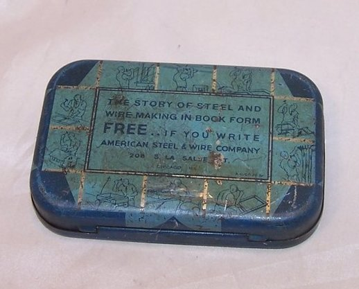 Image 4 of Mrs McGregors Family Nail Tin Box, American Steel and Wire