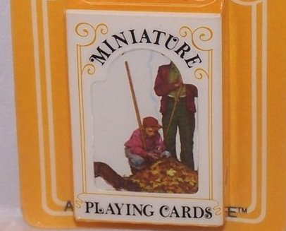 Image 0 of Playing Cards Miniature Vntg, Hoyle, Raking Leaves