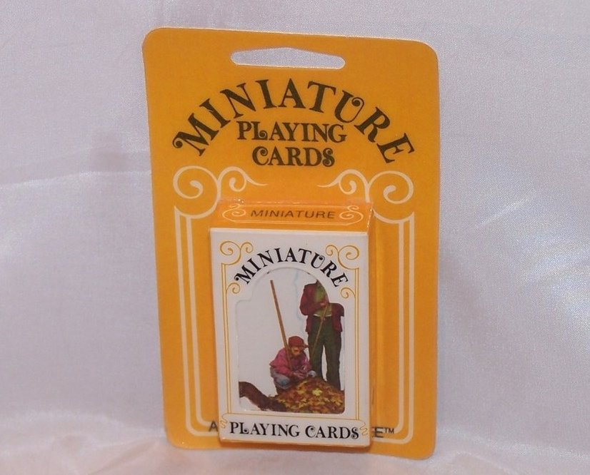 Image 1 of Playing Cards Miniature Vntg, Hoyle, Raking Leaves