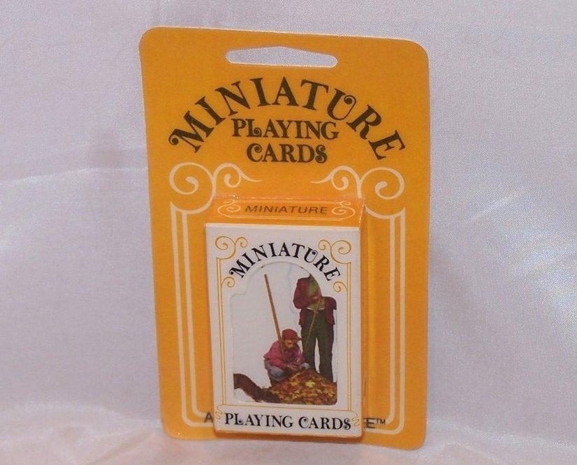 Image 1 of Playing Cards Miniature Vntg, Hoyle, Raking Leaves