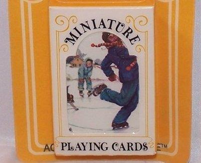 Playing Cards Miniature Vntg, Hoyle, Ice Skating Design