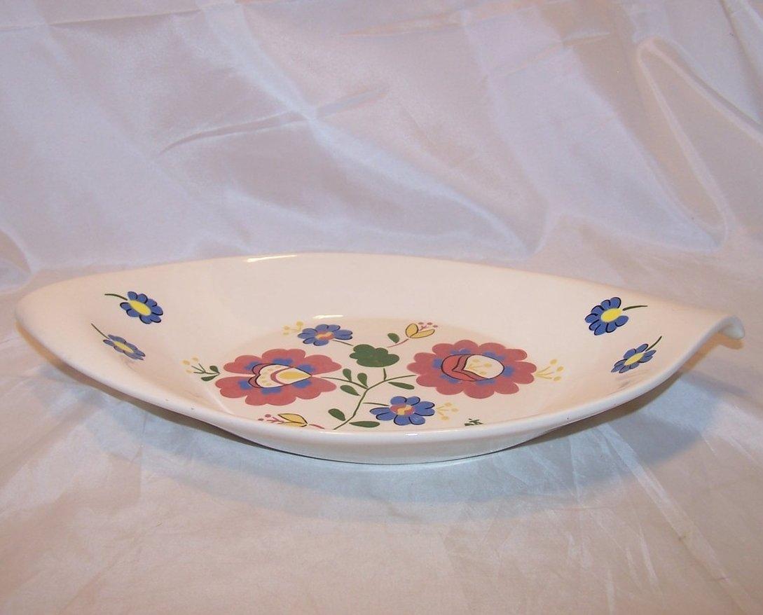 Image 1 of Hungarian Folk Art Serving Bowl, Signed, Hungary