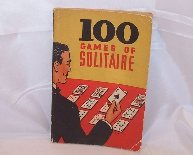 Solitaire Card Game Book, 100 Games, First Edition, 1939