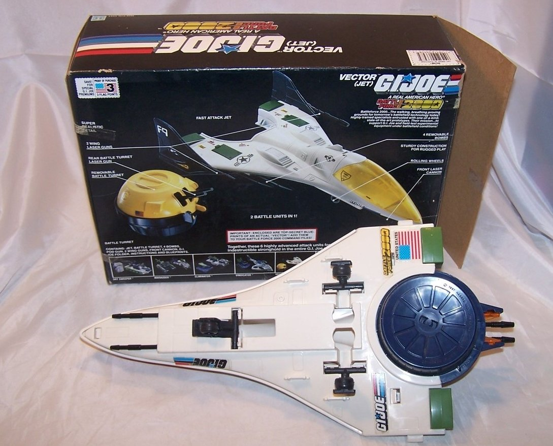 Image 4 of GI Joe Vector Jet w Box, Battle Force 2000, Hasbro 1987