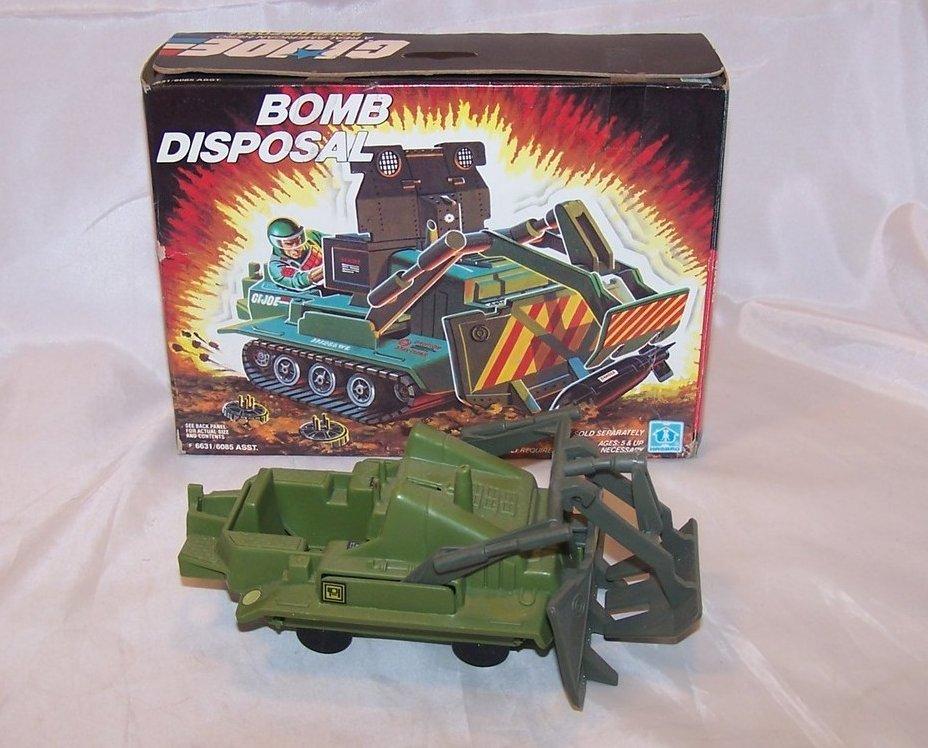 GI Joe Bomb Disposal Unit Plastic Toy, Hasbro, 1985
