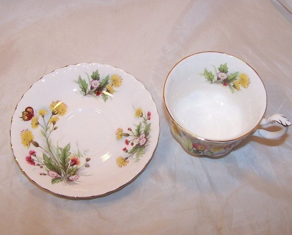 Image 1 of Country Life Teacup Saucer, Ebeling Reuss, Golden Crown
