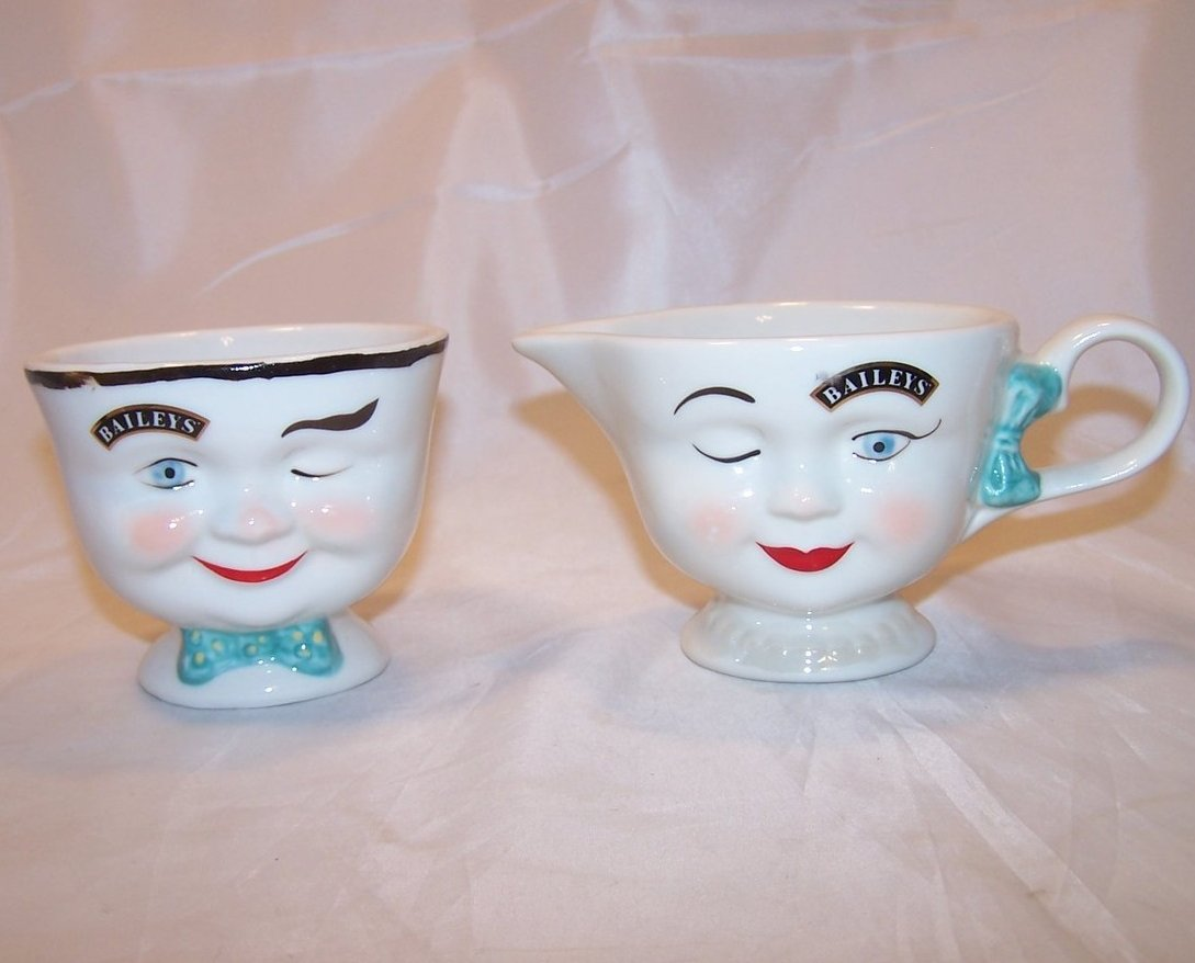 Baileys Irish Cream Winking Creamer, Sugar Bowl, Ltd Ed 1996