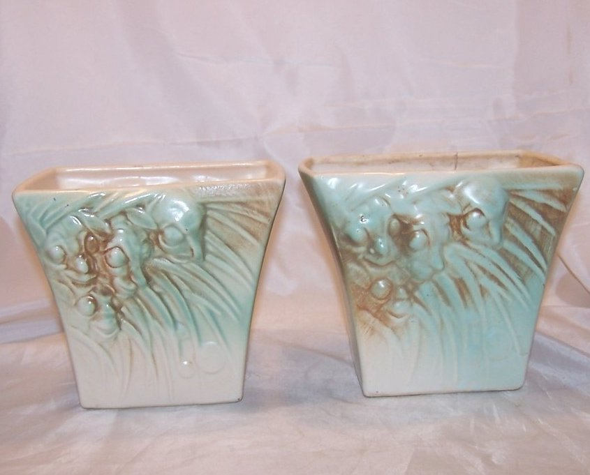 McCoy Creatures in Grass Planter Pair, Green and Brown
