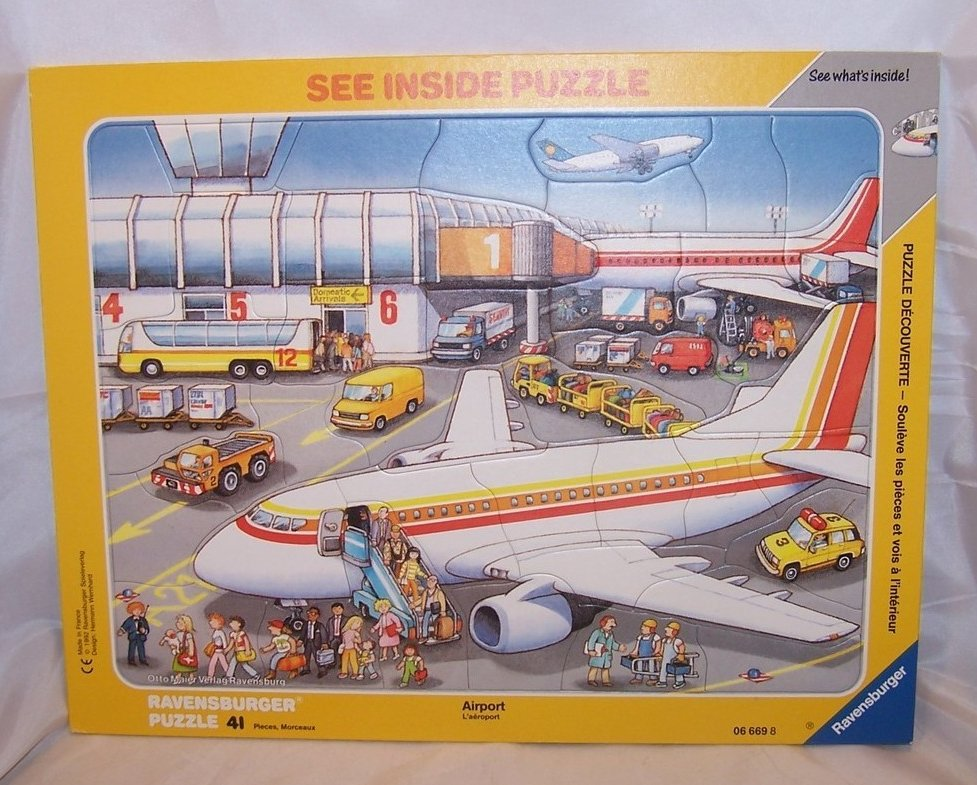 Ravensburger 41 Piece Airport See Inside Frame Puzzle