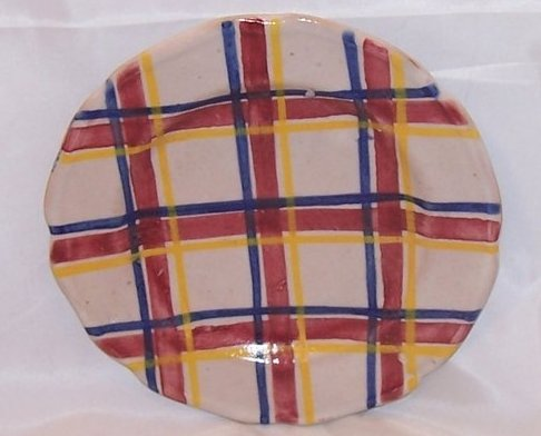 Image 0 of Rubicon Dessert Plate, Handmade, Hand Painted, Rare, Italy