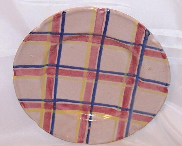 Image 0 of Rubicon Salad Plate, Handmade, Hand Painted, Rare, Italy