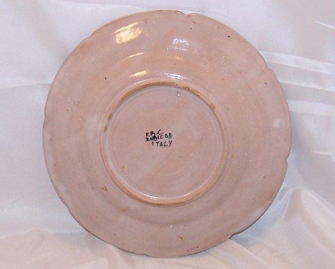 Image 1 of Rubicon Salad Plate, Handmade, Hand Painted, Rare, Italy