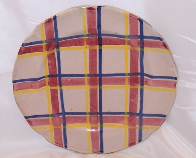 Image 0 of Rubicon Dinner Plate, Handmade, Hand Painted, Rare, Italy