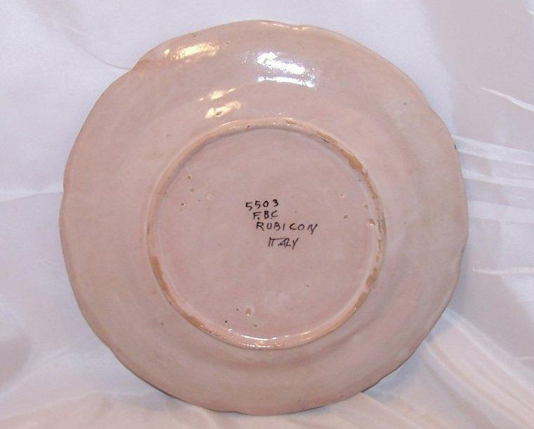 rubicon dinner plate handmade hand painted rare italy