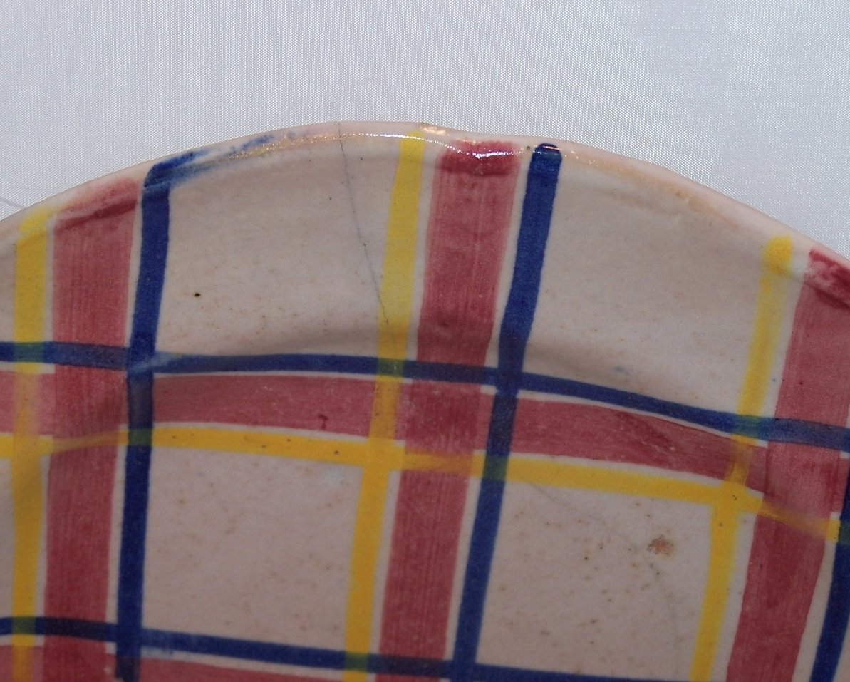 Rubicon Dinner Plate, Hairline Crack, Handmade, Rare, Italy