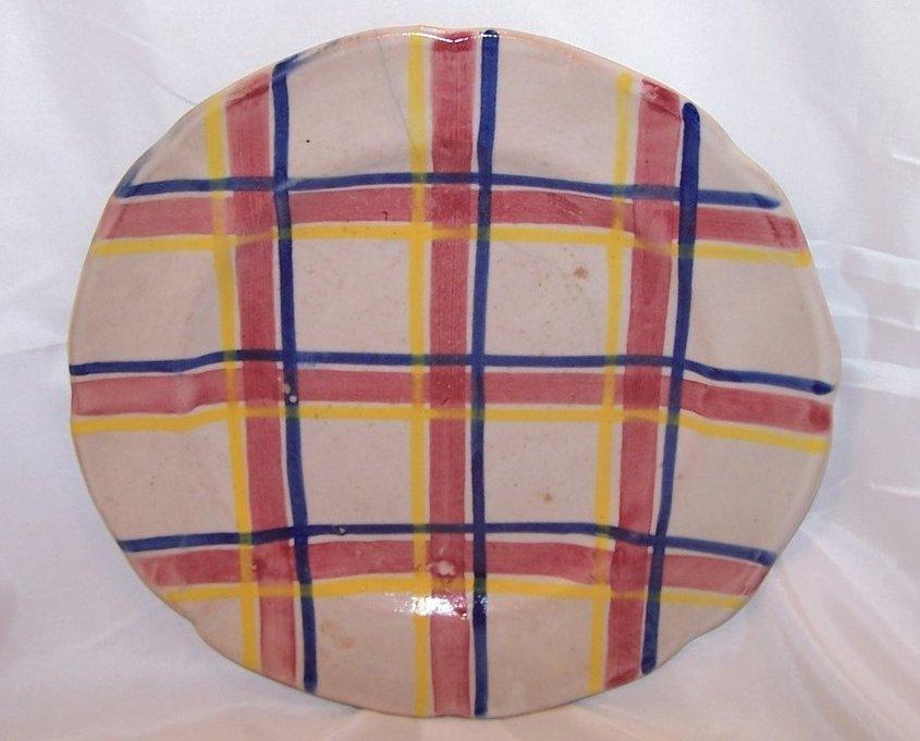 Image 1 of Rubicon Dinner Plate, Hairline Crack, Handmade, Rare, Italy