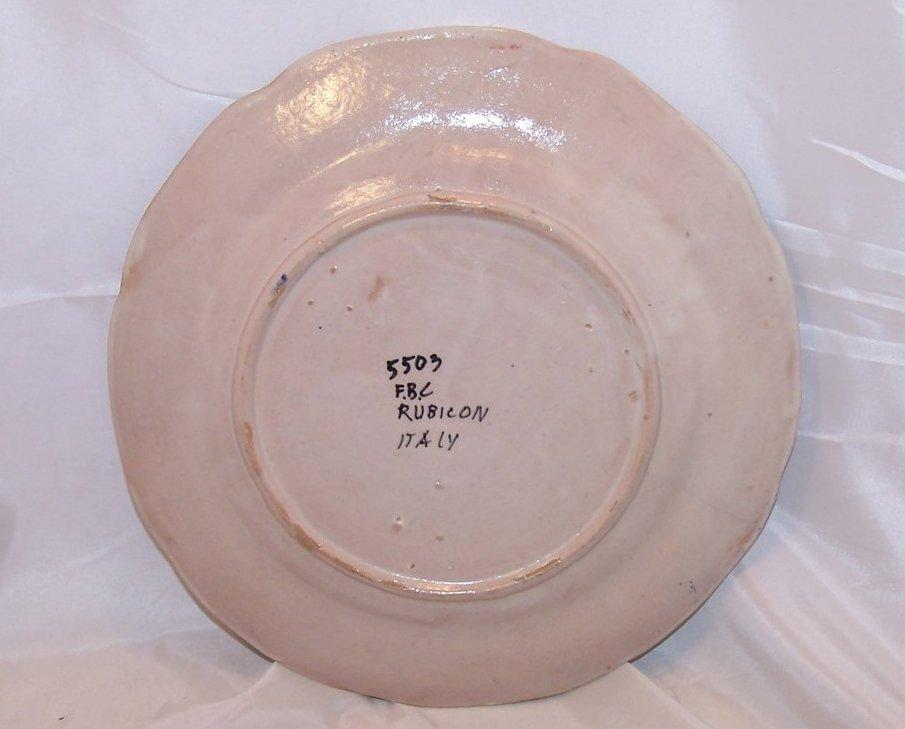Image 2 of Rubicon Dinner Plate, Hairline Crack, Handmade, Rare, Italy