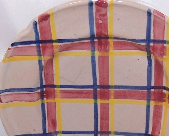 Rubicon Salad Plate, Zigzag Crack, Handmade, Rare, Italy