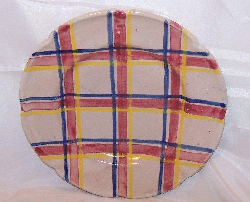 Image 1 of Rubicon Salad Plate, Zigzag Crack, Handmade, Rare, Italy