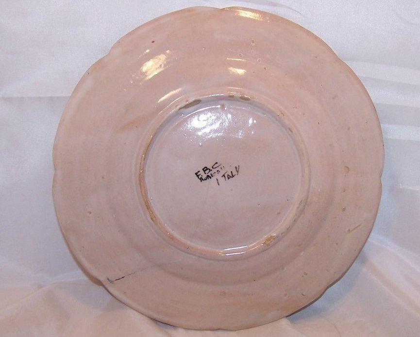 Image 3 of Rubicon Salad Plate, Zigzag Crack, Handmade, Rare, Italy