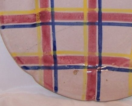 Image 0 of Rubicon Salad Plate, Crack, Chips, Handmade, Rare, Italy