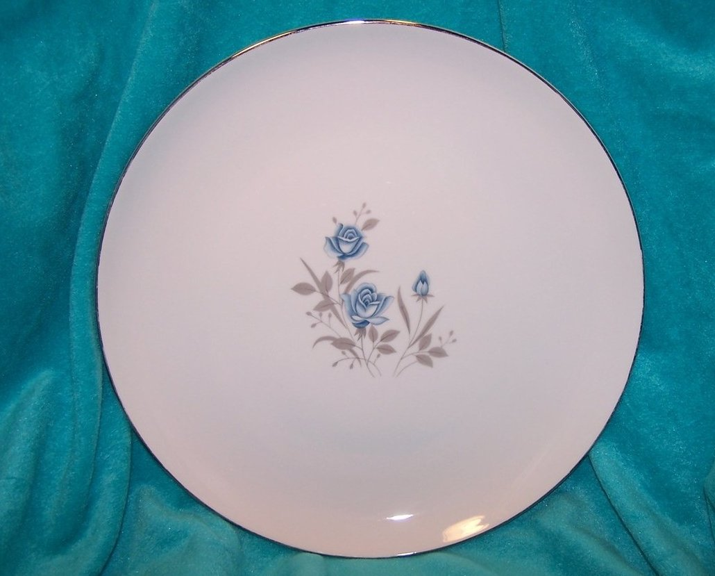 Royal Taunton Blue Rose Chop Plate w Platinum, Breathtaking