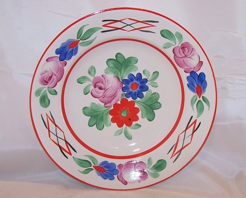 Image 1 of Hungarian Folk Art Display or Serving Bowl, Hungary Budapest