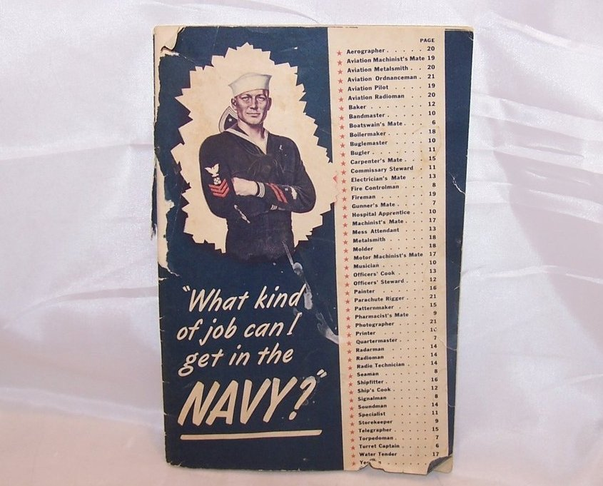 Navy Recruitment Booklet, Vintage Softcover