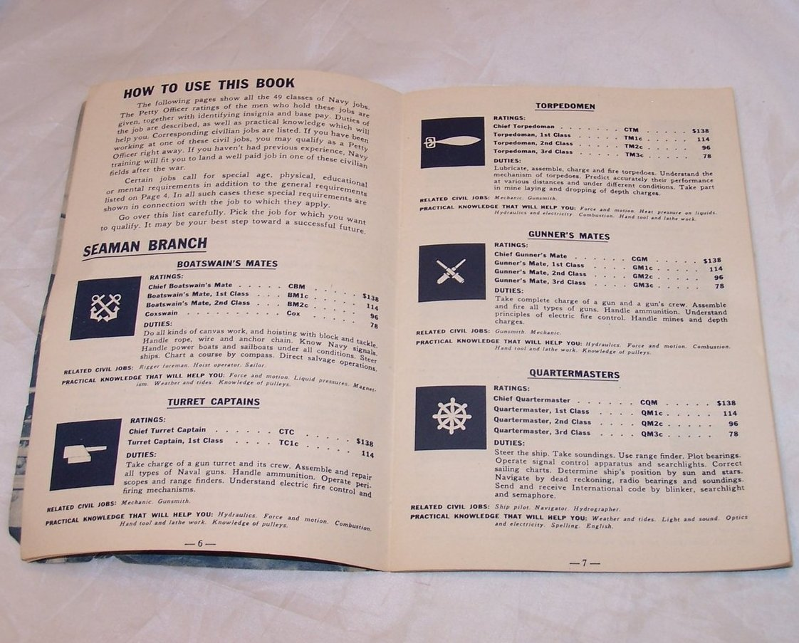 Image 1 of Navy Recruitment Booklet, Vintage Softcover