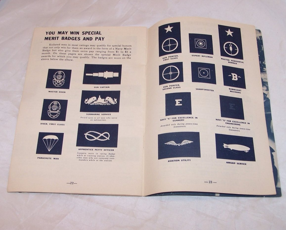 Image 2 of Navy Recruitment Booklet, Vintage Softcover