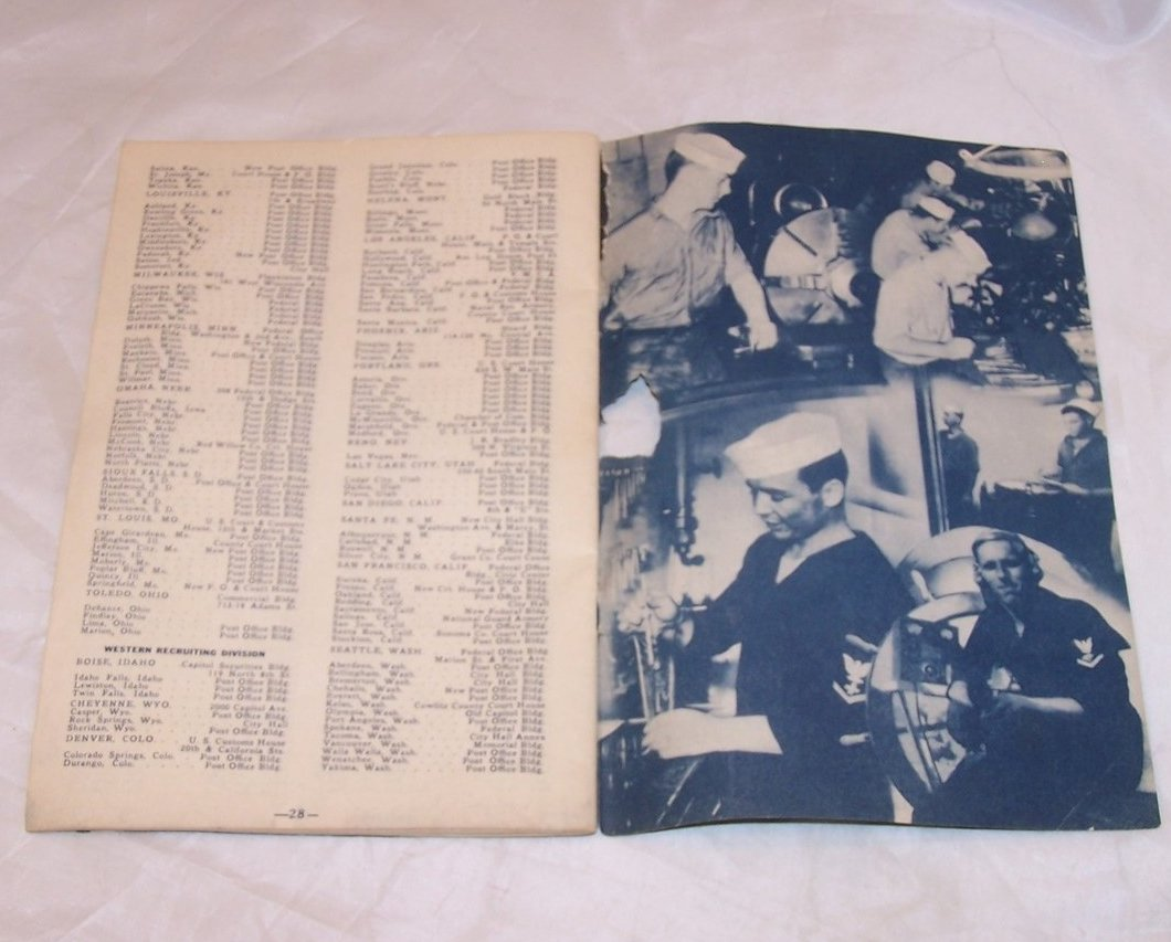 Image 4 of Navy Recruitment Booklet, Vintage Softcover