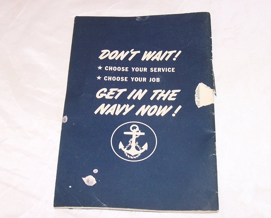 Image 5 of Navy Recruitment Booklet, Vintage Softcover