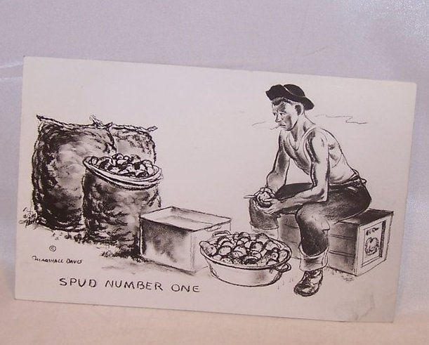 Spud Number One, WW II Marshall Davis Postcard, Unused