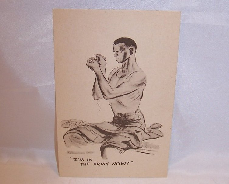 I'm in the Army Now, WW II Marshall Davis Postcard, Unused