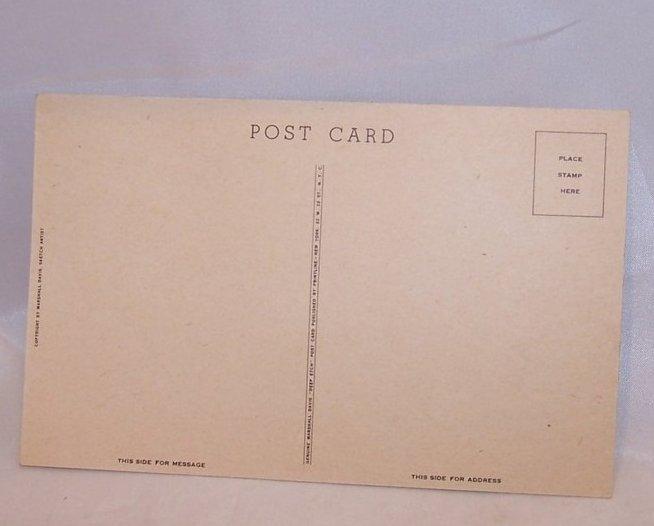 Image 1 of Home Wuz Never Like This, WWII Marshall Davis Unused Postcard