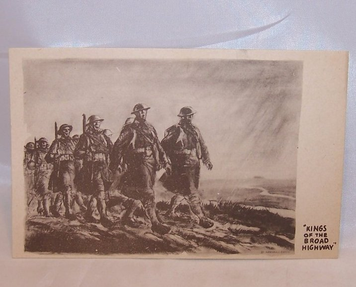 Kings of the Broad Highway, WWII Marshall Davis Postcard