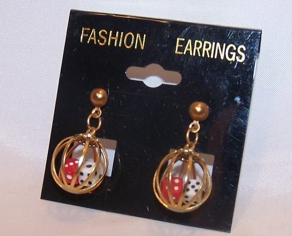 Great Double Dice in Cage Earrings