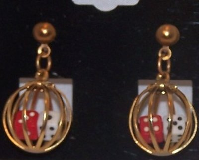 Image 1 of Great Double Dice in Cage Earrings