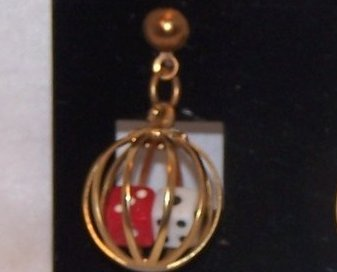 Image 2 of Great Double Dice in Cage Earrings