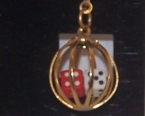 Image 3 of Great Double Dice in Cage Earrings