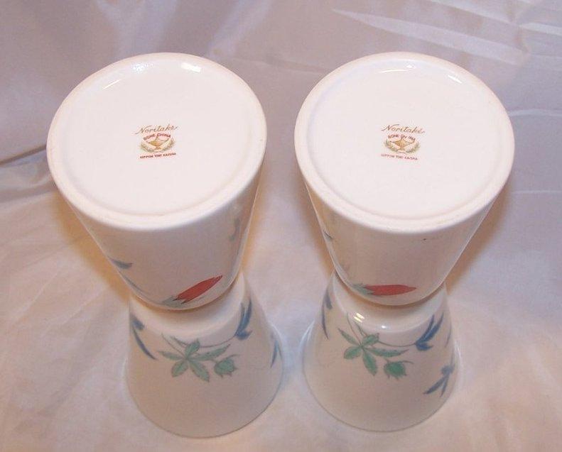 Image 5 of Nippon Toki Kaisha Red Flower Vase Set, Noritake Japan