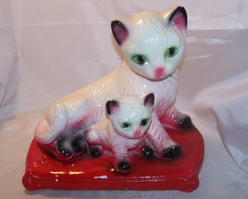 Siamese Cat Bank, Chalkware Chalk Ware