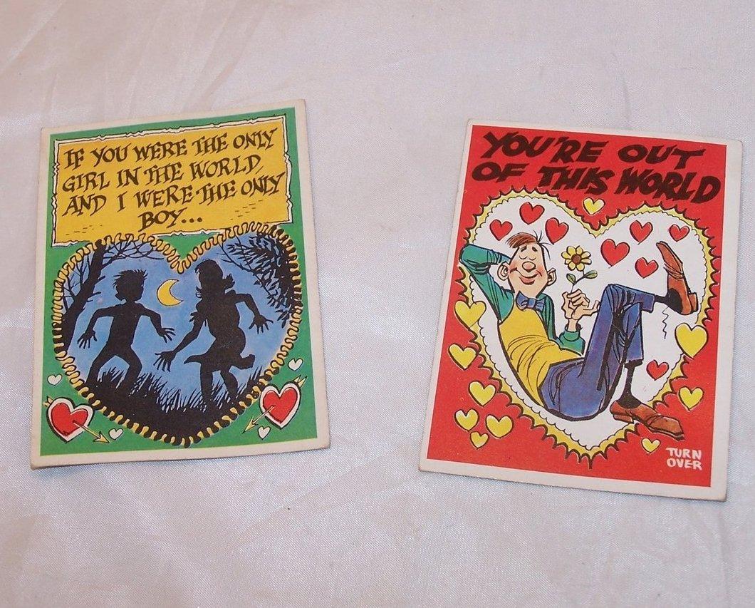 Valentines Day Cards, Vintage Unused, TCG