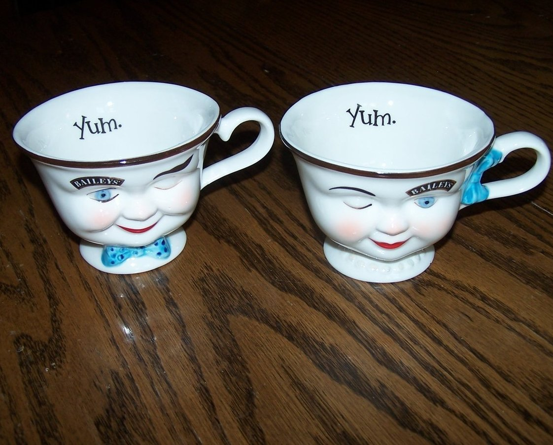 Baileys Irish Cream Winking Coffee Cup Set, 2 Cups