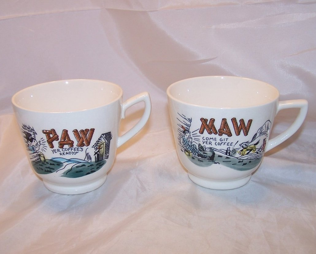 Maw and Paw Hillbilly Coffee Cups, Cup, Mug