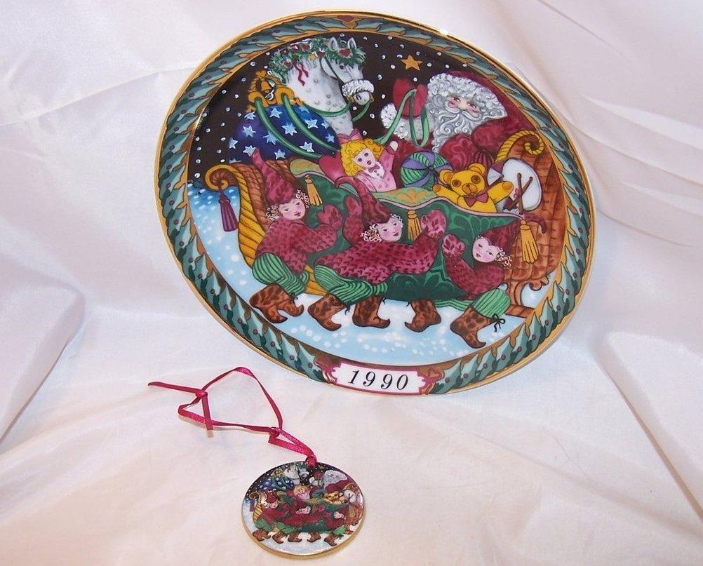 Hans Henrik Hansen Santa Sleigh Plate, Christmas Ornament