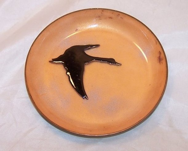 Enamel Clad Copper Goose and Bowl, Emerine
