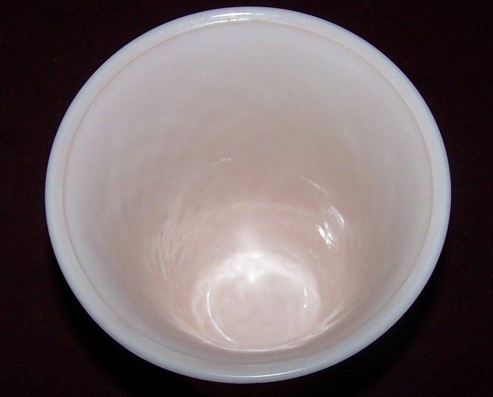 Image 1 of Jeannette Pink Milk Glass Vase, Jeannette Glass Co., ca 1957