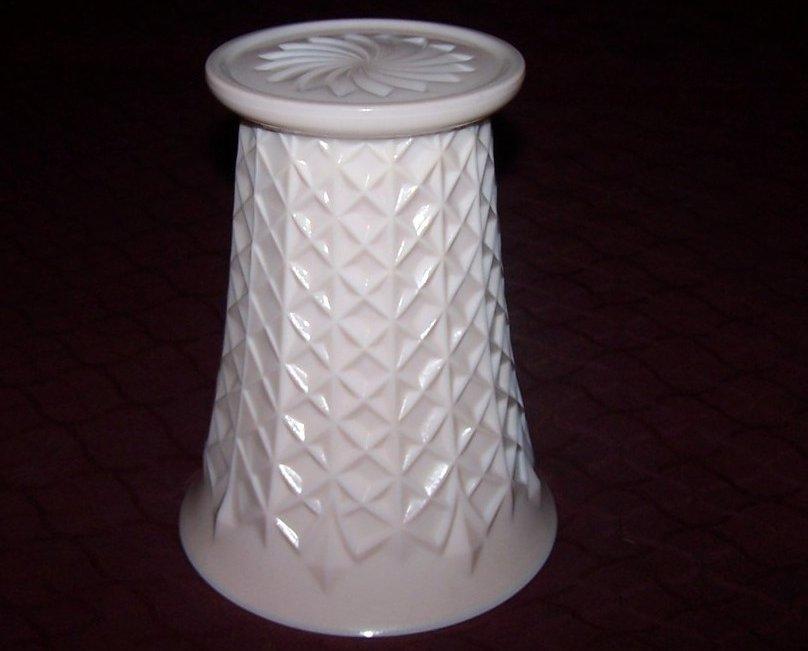 Image 2 of Jeannette Pink Milk Glass Vase, Jeannette Glass Co., ca 1957