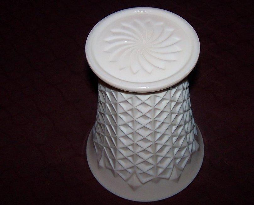 Image 3 of Jeannette Pink Milk Glass Vase, Jeannette Glass Co., ca 1957